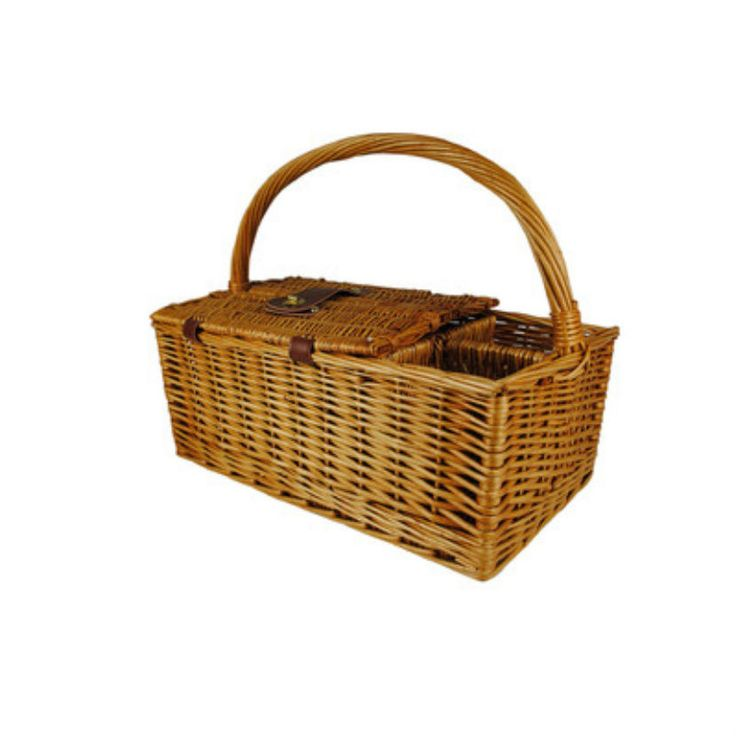 "Cheap Picnic Baskets Romantic Simple Wicker For 2 Beach Traditional 17"" Long #WaldImports"