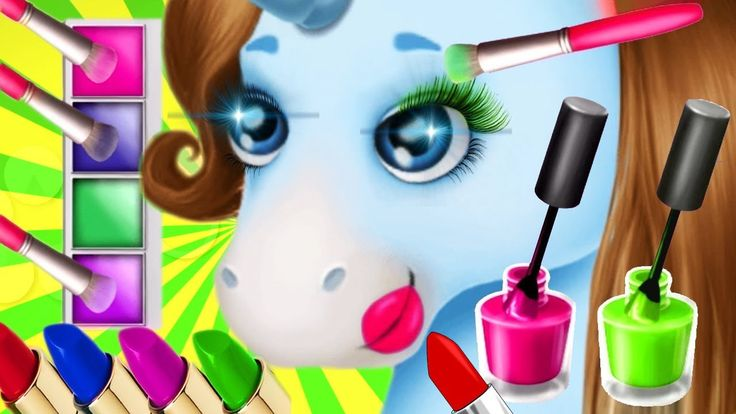 Fun Baby Learn Colors Care Makeup Girls Games - Play Pony Sisters Hair S...
