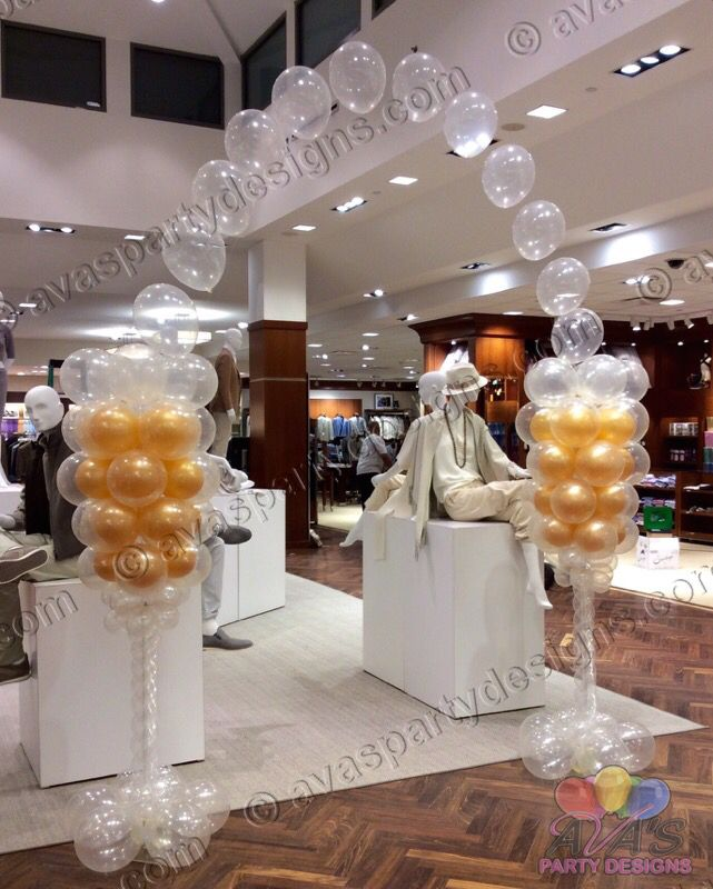 25 best ideas about balloon arch frame on pinterest for Champagne balloon wall