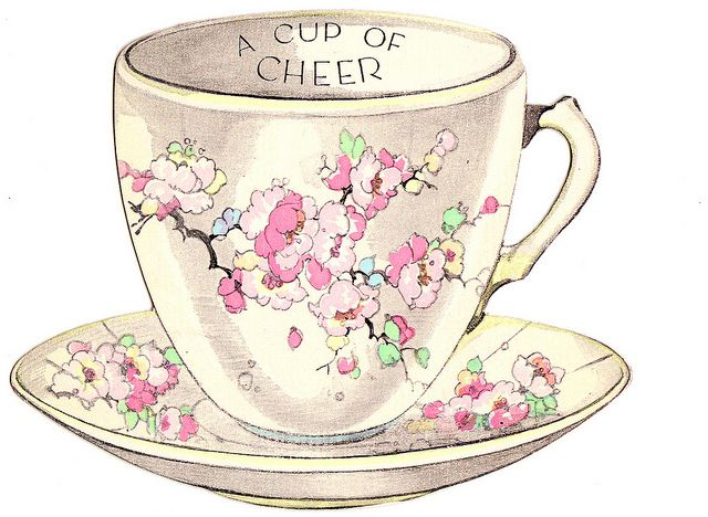 vintage tea cup greeting card | Tea Party | Pinterest ...