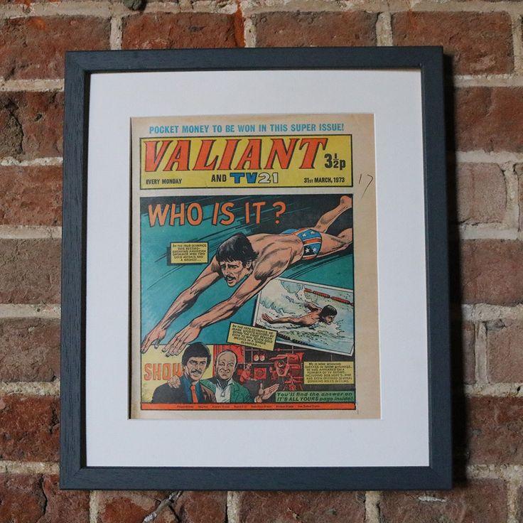 Framed Valiant Comic - Mark Spitz