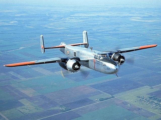 B25 Mitchell Bomber, Royal Canadian Air Force aircraft.