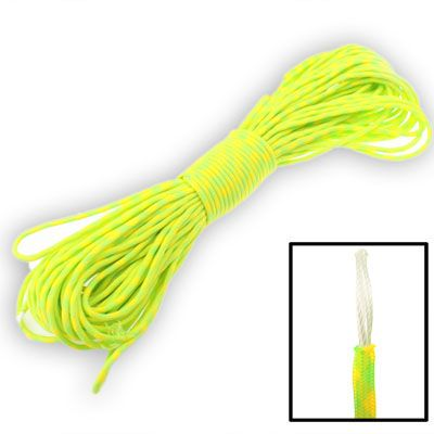 [$4.35] [€4.10] [£3.19] 100m 7 Core Durable Army Paratroopers Rope Rescue Survival Tent Rope(Yellow)