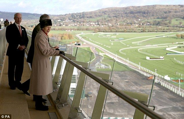 Anne looked out over the racecourse from the Princess Royal Stand. Today is the start of o...