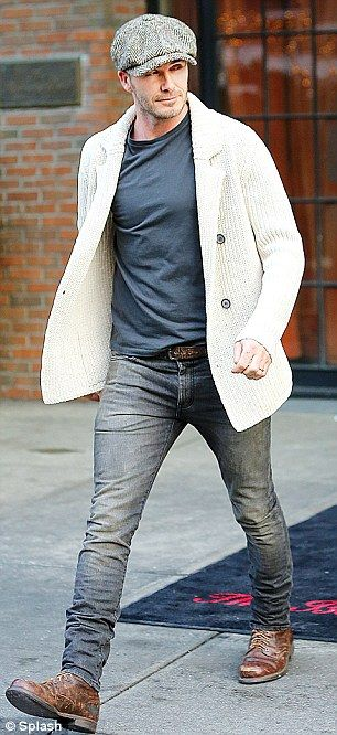 David Beckham H&M New York Times Square