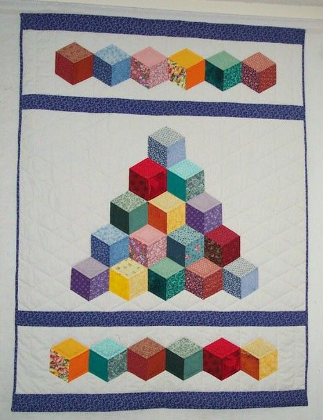 Hey, I found this really awesome Etsy listing at http://www.etsy.com/listing/44240588/baby-tumbling-blocks-quilt-pattern