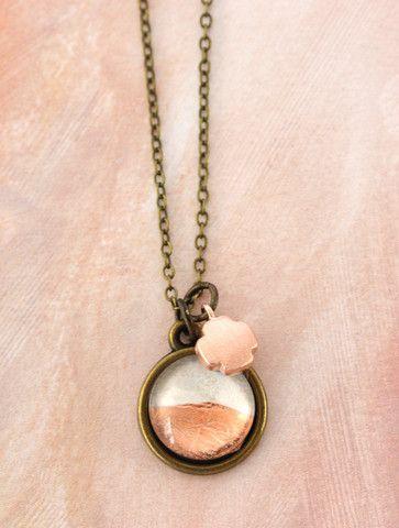 Petite Copper Foil Necklace by Cloud Nine Creative  www.cloudninecreative.co.nz