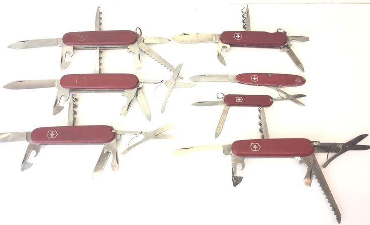 Lot 7 Victorinox Swiss Army Pocket Knife Officer Wenger Rostfrei  #Victorinox