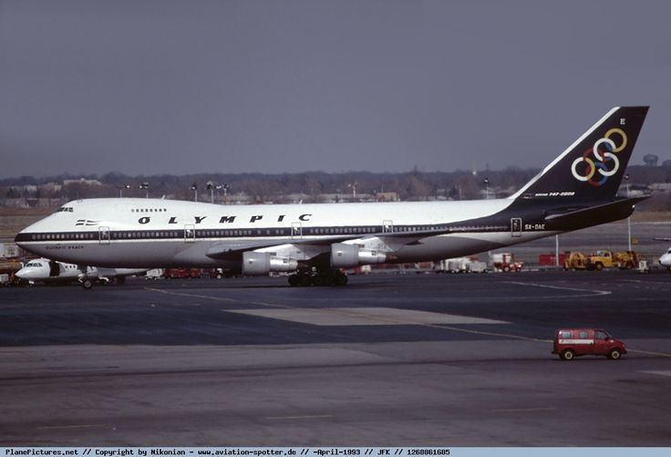Olympic Airways Boeing 747-212B (Olympic Peace) [SX-OAE] at New York airport ,April 1993