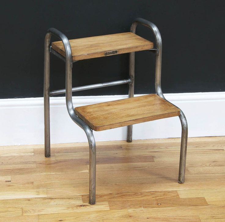 Vintage Industrial Steps / Stool   Bring It On Home