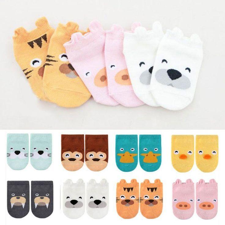 Buy Kids Small Little Ears Cotton Socks - Brown / 4-6Tfor R36.99