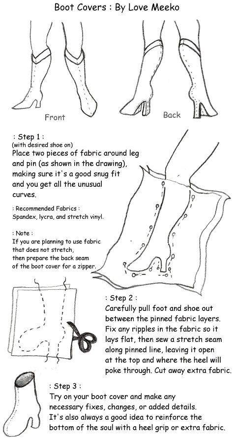 Cosmic Gemini Cosplay's Cosplay Tips! • Slip-On Boot Cover tutorial/pattern by Love Meeko....