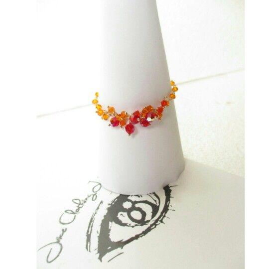Gelang Kristal Swarovsky // Gelang Handmade // Beaded Bracelet // Ombre Bracelet
