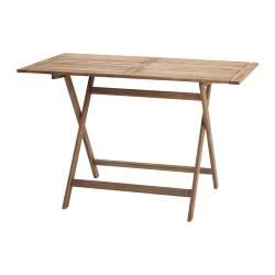 BOLLÖ tavolo pieghevole, marrone Lunghezza: 113 cm Larghezza: 64 cm Altezza: 72 cm