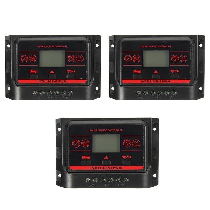 10/20/30A PWM LCD Dual Usb Laderegler Solarregler Solar Panel Controller 12V-24V