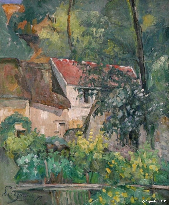 House of Père Lacroix  // Paul Cézanne - National Gallery of Art