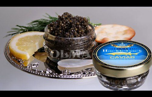 Directly from OLMA caviar manufacturer Hackleback black caviar, fresh, high quality product. Shelf life is 4 - 6 weeks. Keep refrigerated 38F and below. OLMA Black Caviar Hackleback Sturgeon 1 oz (28g) Glass Jar