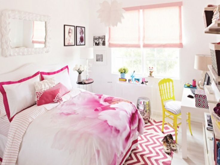 Small Room Ideas For Girls With Cute Color Sweet Bedroom Sweet White And Pinky Bedroom Design
