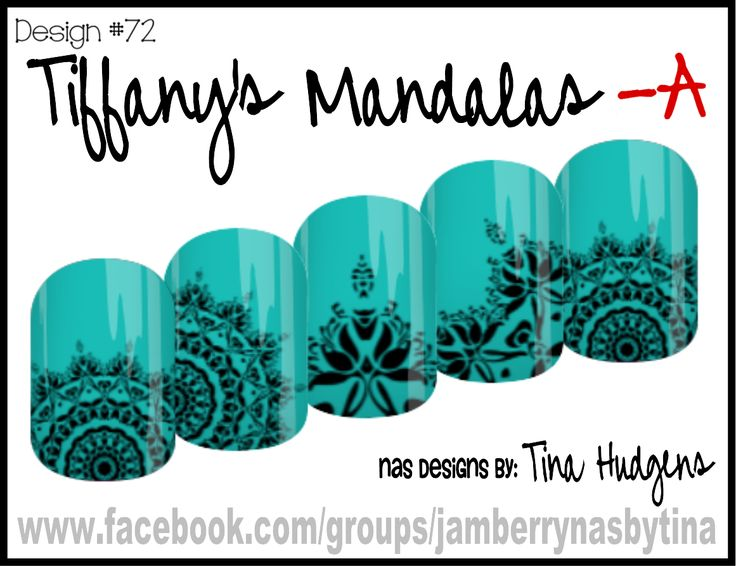 Jamberry NAS Design by Tina Hudgens, Design #72 Tiffany's Mandalas