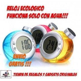 #reloj #despertador #original #gadgets #ofertas #descuentos #tecnologia #regalos Original reloj ecologico que funciona con agua. No necesita pilas!!! Tienda online de relojes y despertadores con diseños origionales. Comprar relojes originales a precios baratos en http://www.yougamebay.com/es/list/category/relojes_originales