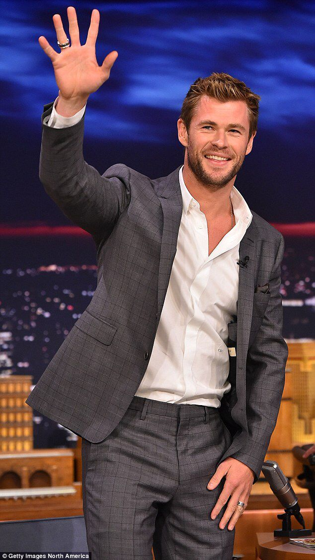 Chris Hemsworth gets drenched on The Tonight Show