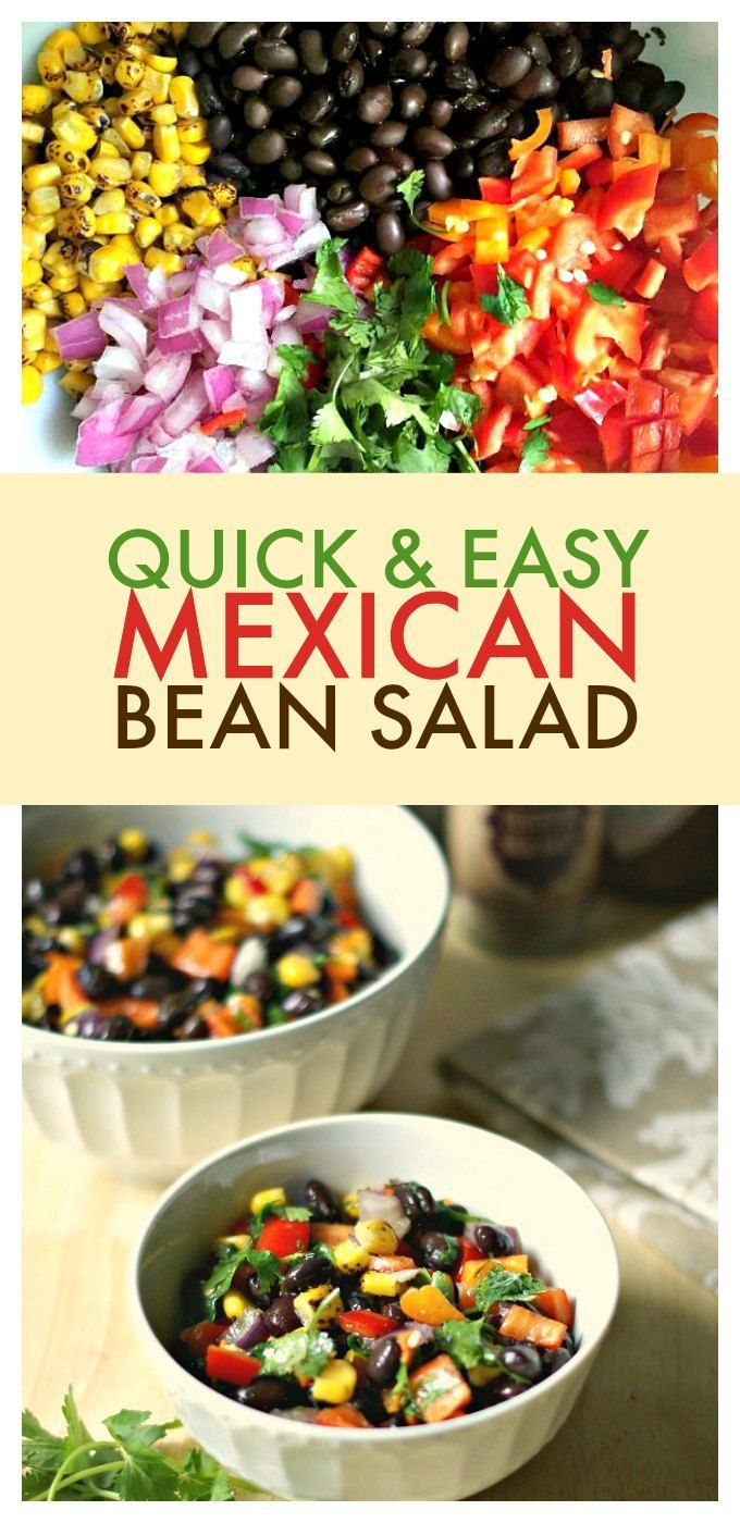 Quick & Easy Mexican Bean Salad - the perfect summer salad to take to a party or eat as a summer side dish!