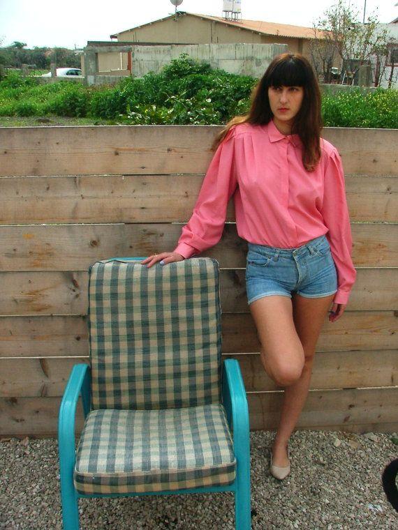 Vintage buttoned shirt.Vintage Blouse shirt.Vintage by shpirulina