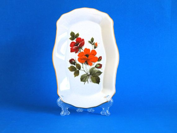 Vintage Westminster Fine China Red & Orange Gold by FunkyKoala