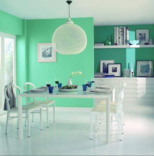 Las 25 mejores ideas sobre paredes de tono verde en for Color agua marina pintura