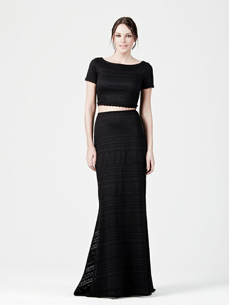 MAXI LACE SKIRT AND CROPPED TOP http://www.beyoubyyvonne.com/en/shop/skirts/maxi-lace-skirt.html