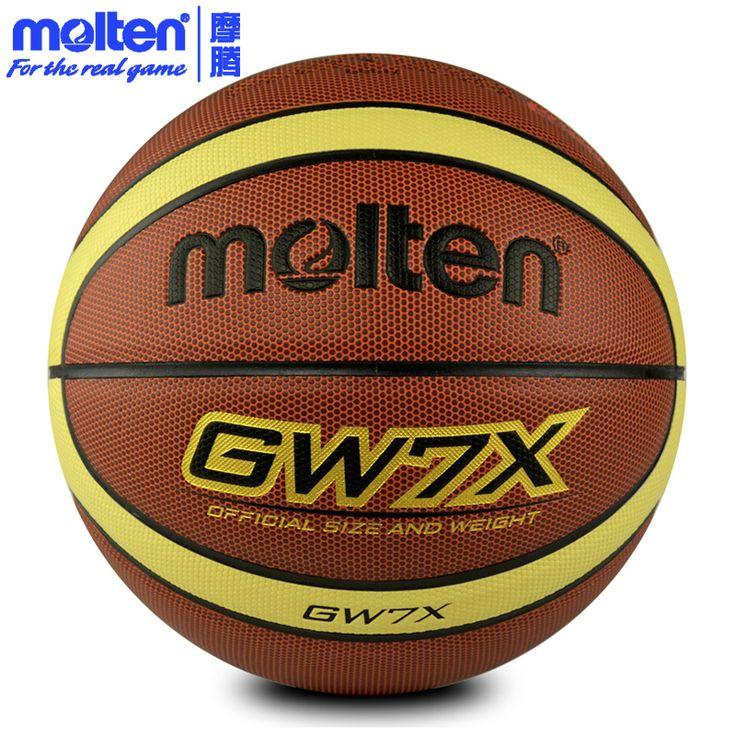 original molten basketball ball GW7X NEW Brand High Quality Genuine Molten PU Material Official Size7 Basketball free shipping