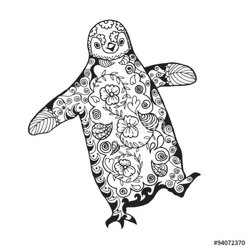 Download The Royalty Free Vector Cute Penguin Adult Antistress