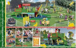Plans for an exciting new children's play area at the Grand Western Canal's basin in Tiverton have taken a step further towards final agreement.  The scheme, which so far has funding from Devon County Council and Tiverton Town Council, has now also received support from Tesco.