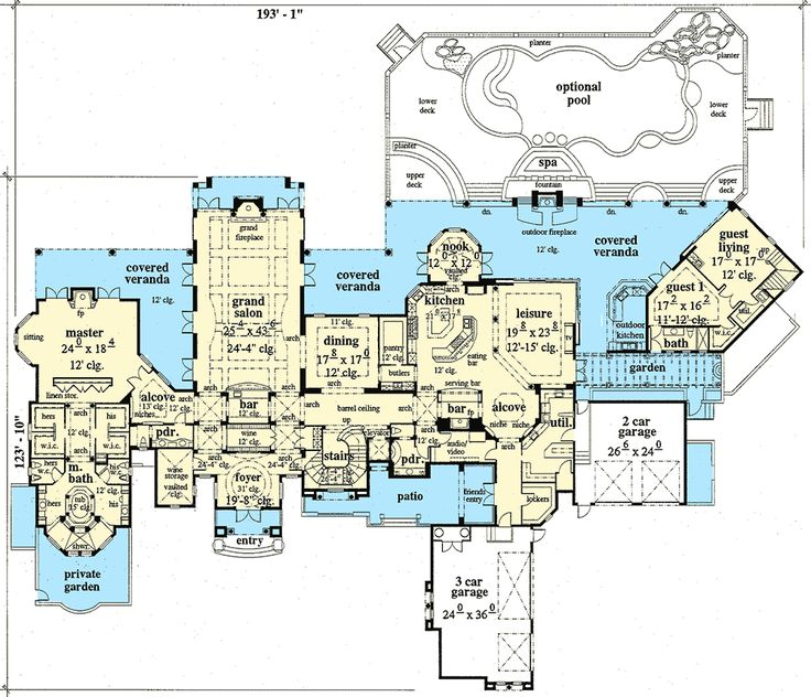 Best 25 luxury home plans ideas on pinterest luxury for Large estate house plans