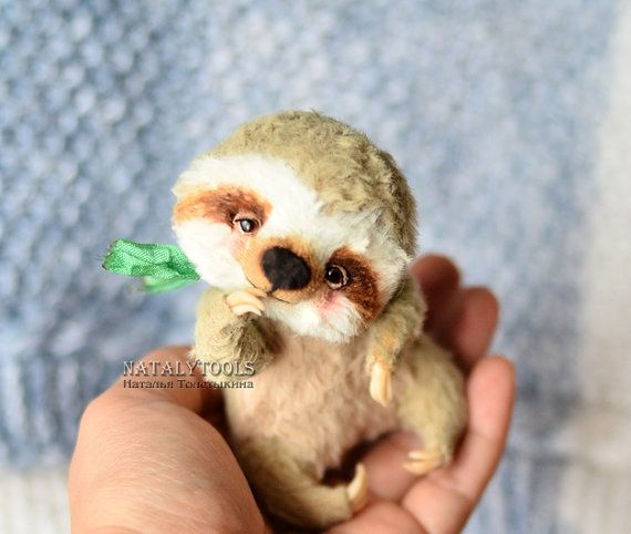 SAMPLE Sloth toy by NatalyTools collectible jointed от NatalyTools