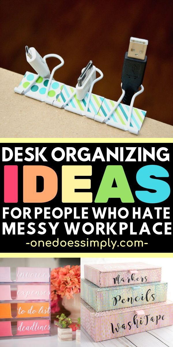 10 Desk Organizing Ideas To Boost Up Your Productivity One Does Simply Desk Organization Diy Desk Organization Office Desk Organization