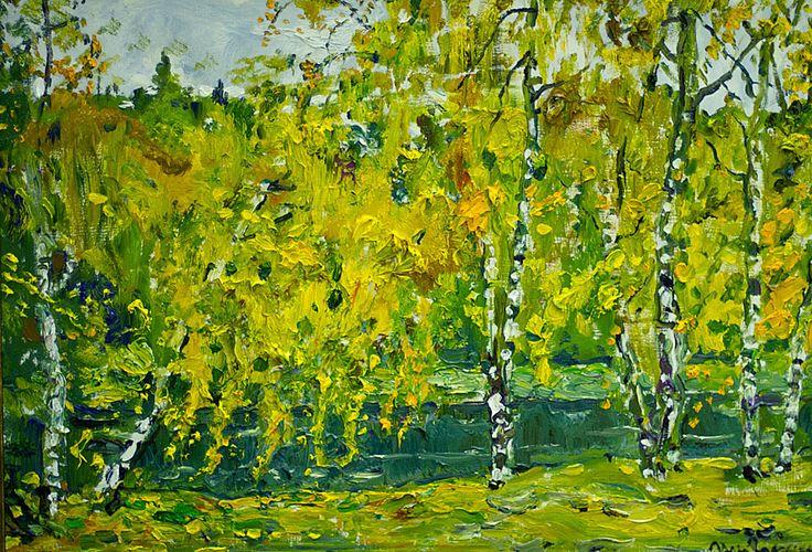Илья Глазунов. Осенний пейзаж.  2011. Холст, масло.