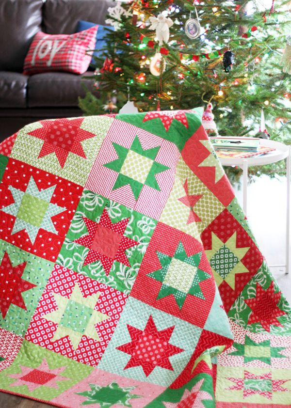 picture relating to Free Printable Christmas Sewing Patterns named Xmas Celebrities with Absolutely free Routine Xmas Quilts