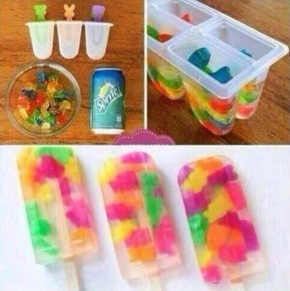 Gummy Bear Sprite Popsicles