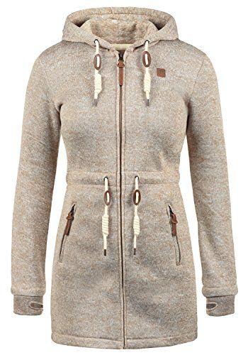 DESIRES Thora Damen Übergangsjacke Fleecejacke mit Kapuze aus hochwertigem  Material, Größe:M, Farbe