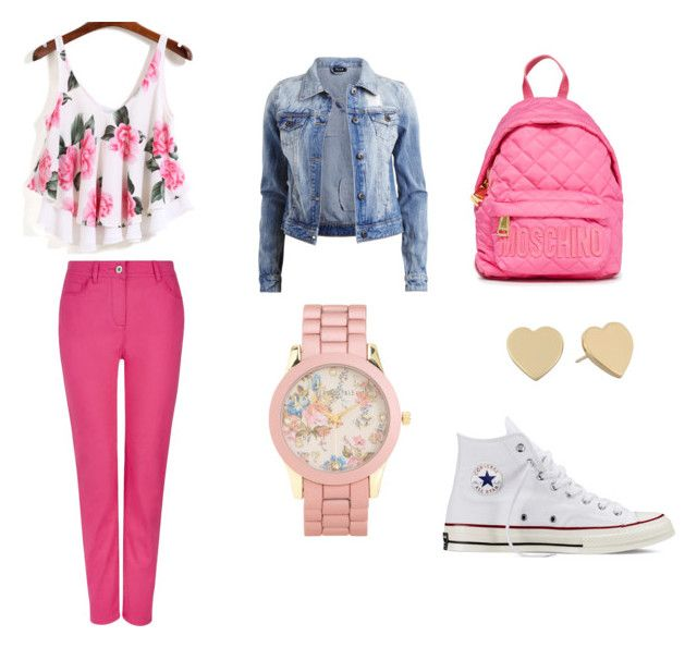 back to school by anita-gyulai on Polyvore featuring VILA, Dash, Converse, Moschino, Aéropostale and Kate Spade