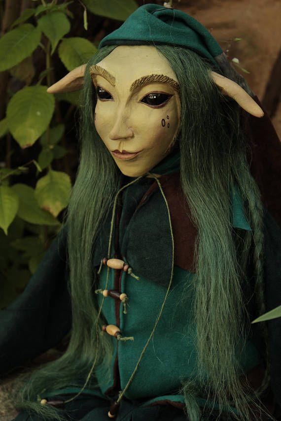 marionette Green Goblin marioneta puppet ooak artdoll títere