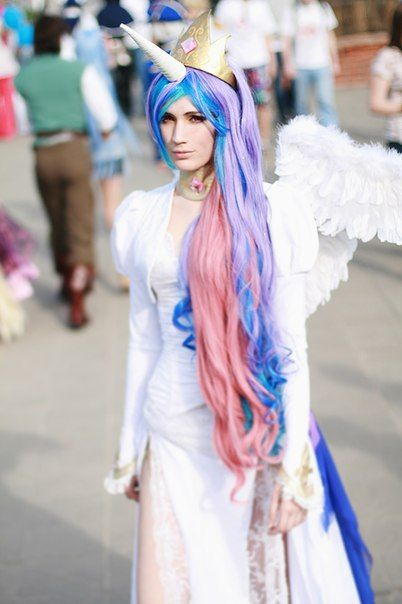 my little pony Princess Celestia costume idea - the girls would LOVE if I would do this with them on Halloween!