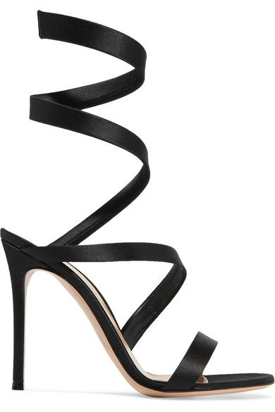 Gianvito Rossi | Opera satin sandals | NET-A-PORTER.COM