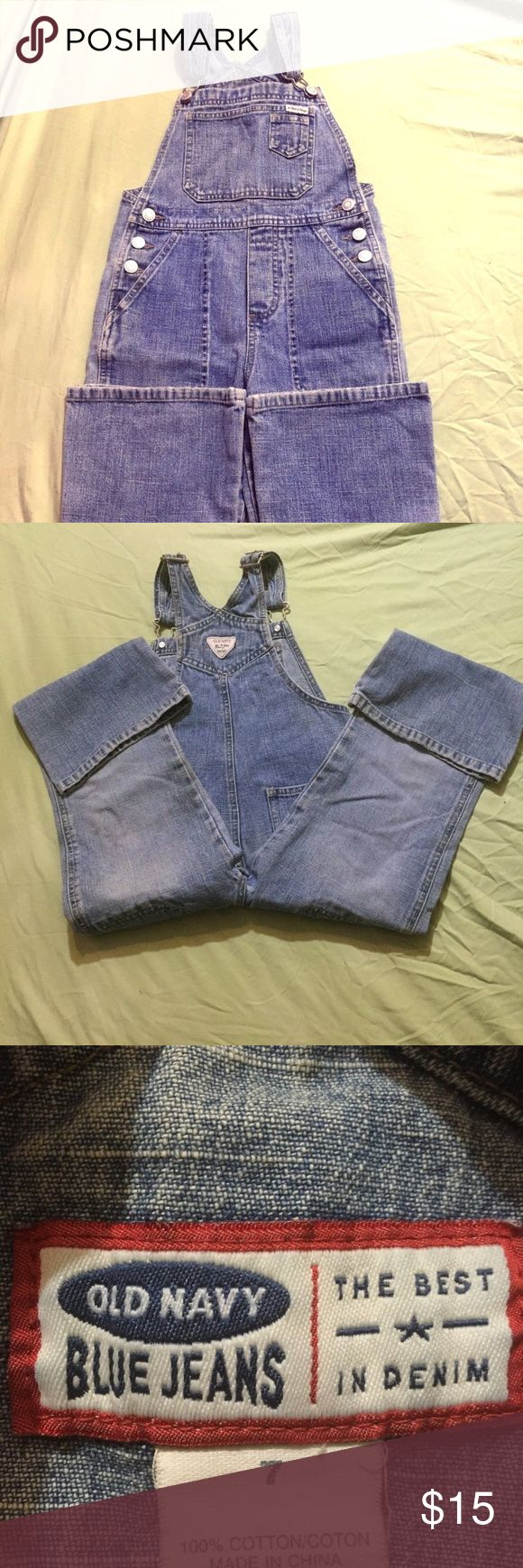 Old Navy Overalls (004) These Old Navy size 7 are adorable! They are used but are still very nice! Old Navy Bottoms Overalls