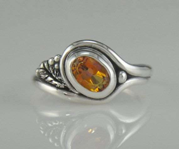 Sterling Silver Anastasia Topaz Ring- One of a Kind