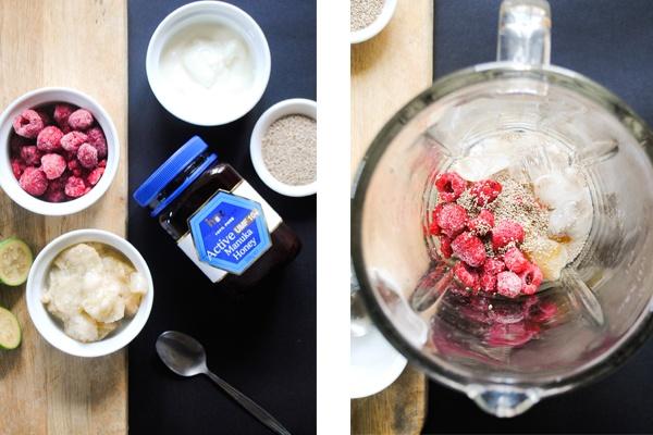The Weekend Journal: Raspberry & Feijoa Smoothie