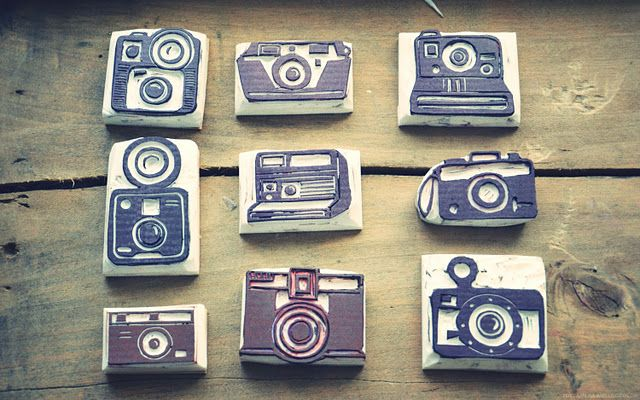 old camera stamps