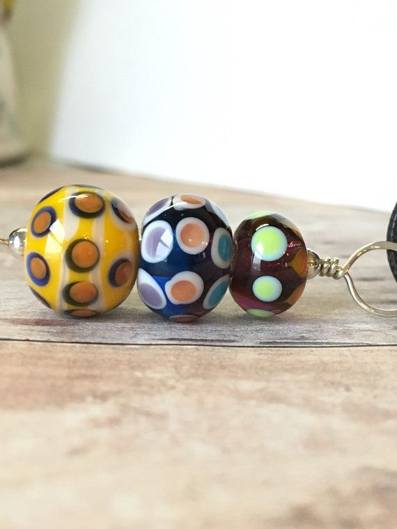 Lampwork Jewelry  Lampwork Glass Bead Pendant by BlueberryBayBeads