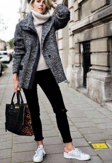 I\u0027m wearing: Iro Paris Jacket Designers Remix sweater J Brand jeans Clio  Goldbrenner bag, Adidas \u0027Stan Smith\u0027 shoes, Les Interchangeables bracelets